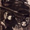 Donne con bambini e pescatore dormiente, 1951