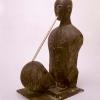 Mimmo Paladino, Senza titolo (uomo con flauto), 1993