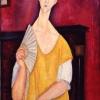 La femme à l'éventail (Lunia Czechowska), 1919