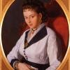 Marino Pompeo Molmenti (1819 – 1894), Ritratto di giovane signora, 1850 ca