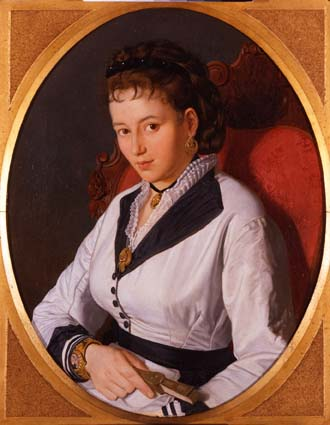Pompeo Marino Molmenti -Ritratto di giovane signora