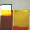 Fasi di preparazione, in studio, dell'installazione di Angelo Zennaro