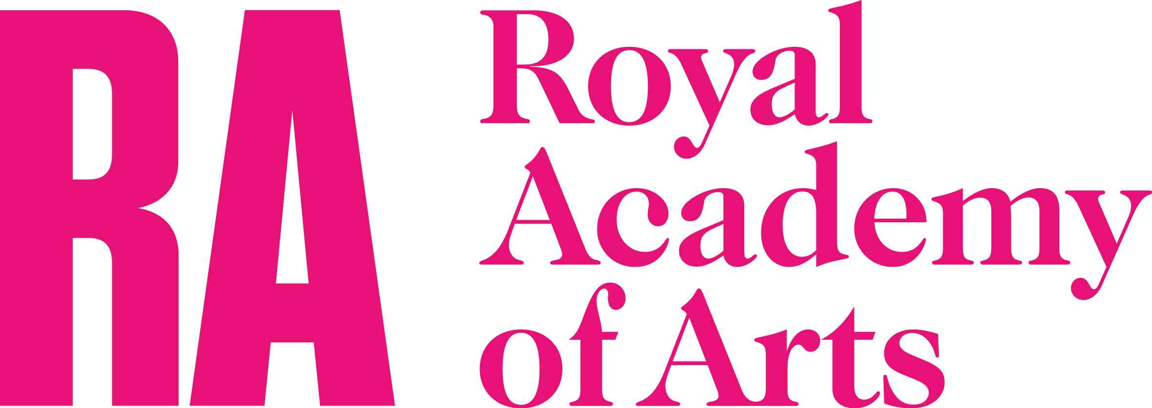 Royal Academy of Arts logo lockup BLK