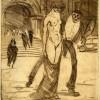 Raffaele Boschini, Allegoria macabra 1920 acquaforte mm 238 x 217