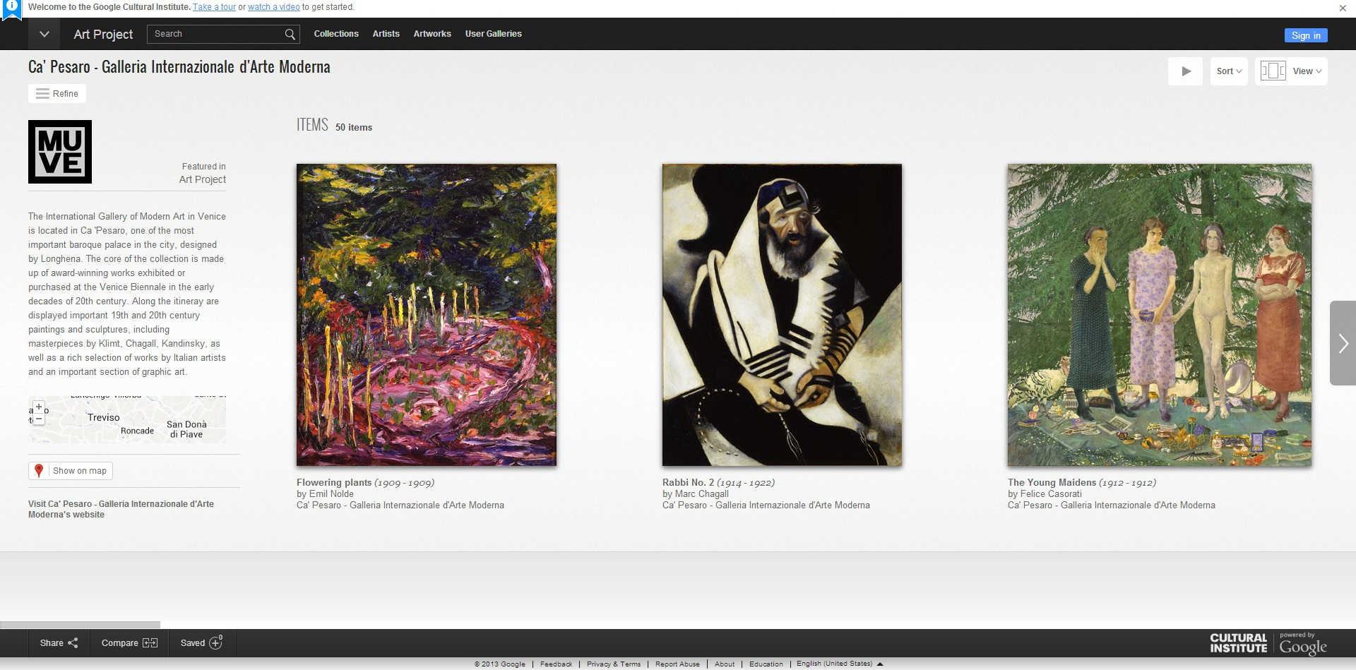 Google Art Project - Ca' Pesaro, Galleria Internazionale d'Arte Moderna di Venezia