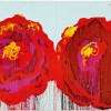 The Rose (IV), 2008, Acrylic on wood, total area: 252 x 740 cm ciascuno: 252 x 185 cm privat collection, courtesy Gagosian Gallery